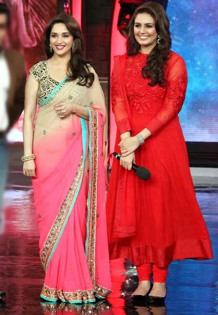 Madhuri and Huma promoting Deddh Ishkiya on Bigg Boss