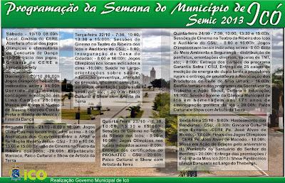 SEMANA DO MUNICÍPIO DE ICÓ - CEARÁ