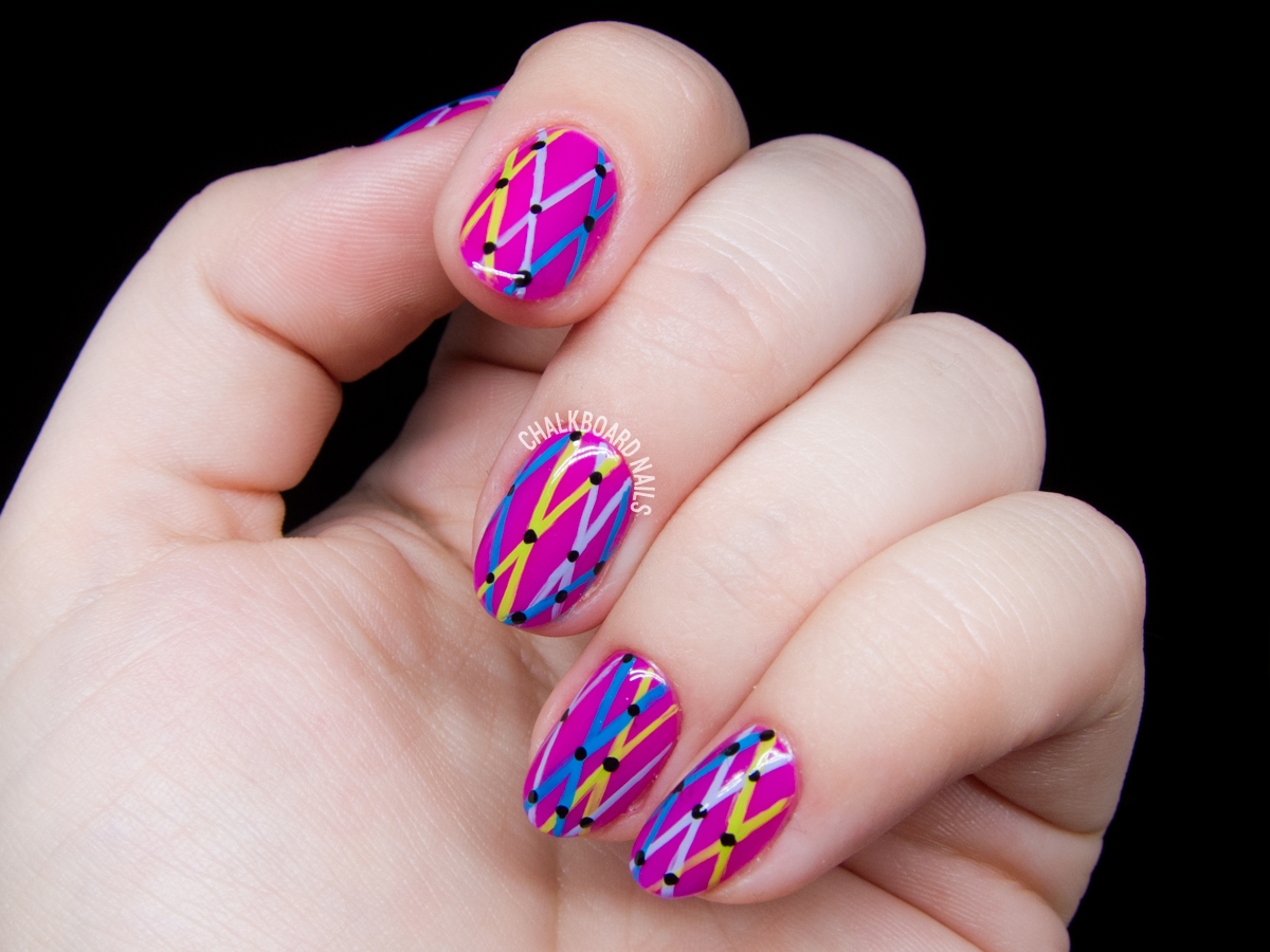 Carnaval Netting - X-Patterned Nail Art