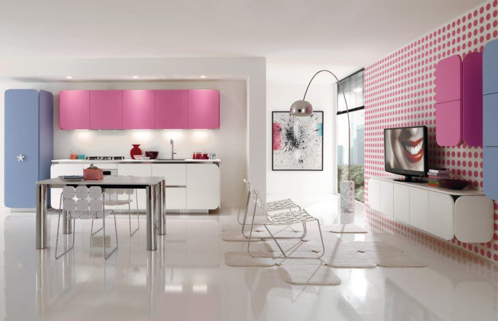Kitchen living room open floor plan minimalist home interior ideas