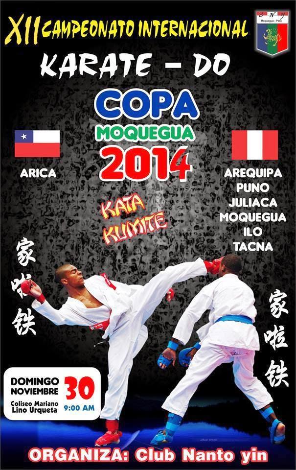 """XII CAMPEONATO INTERNACIONAL DE KARATE DO  """"Copa Moquegua 2014""""  Moquegua-Perú"""