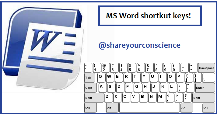 Microsoft Word shortcut keys ~ Share Your Conscience: A Knowledge ...
