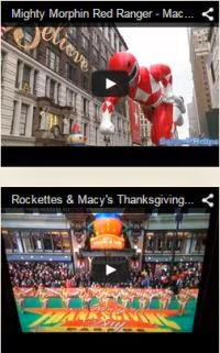Mighty Morphin Ranger and New York Rockettes at Macy's Parade