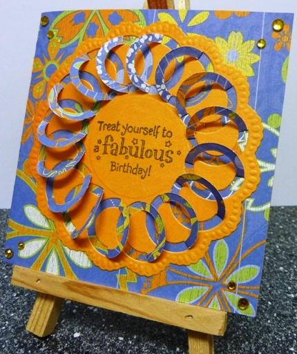 Brenda 39 s kaarten verjaardagskaartje met een lace stans for Gekleurd papier action