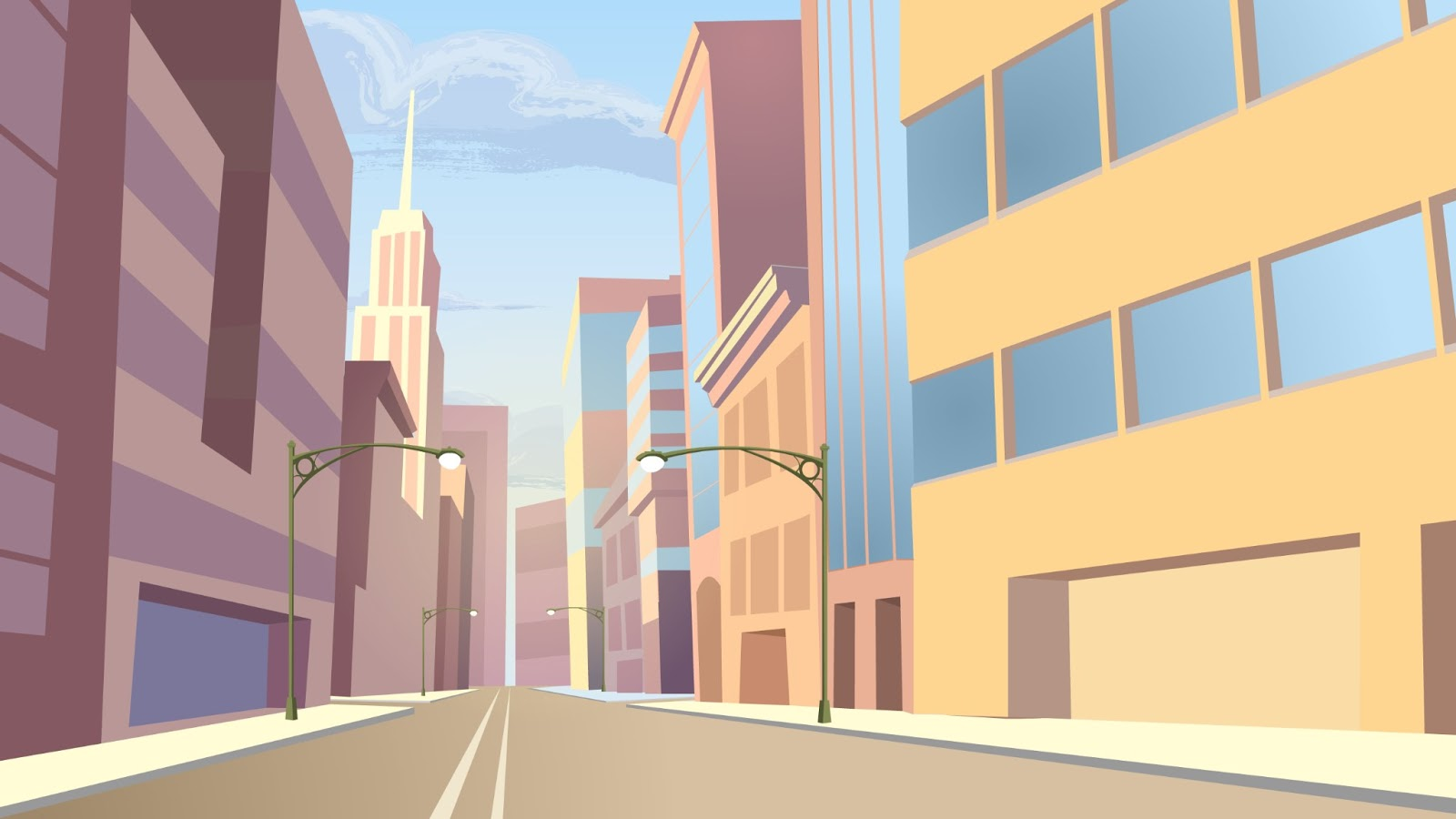 Rick Marin Site Background Art For Animation Project
