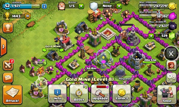 Clash of Clans v7.1.1 Mod Apk Unlimited Gold, Money, and Elixir.
