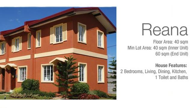Reana Two Storey Townhouse in Camella Carcar Cebu