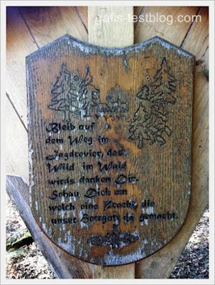 Altes Waldschild
