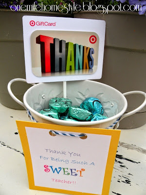 Sweet Teacher Appreciation Gift - Dove Chocolate and Target Card