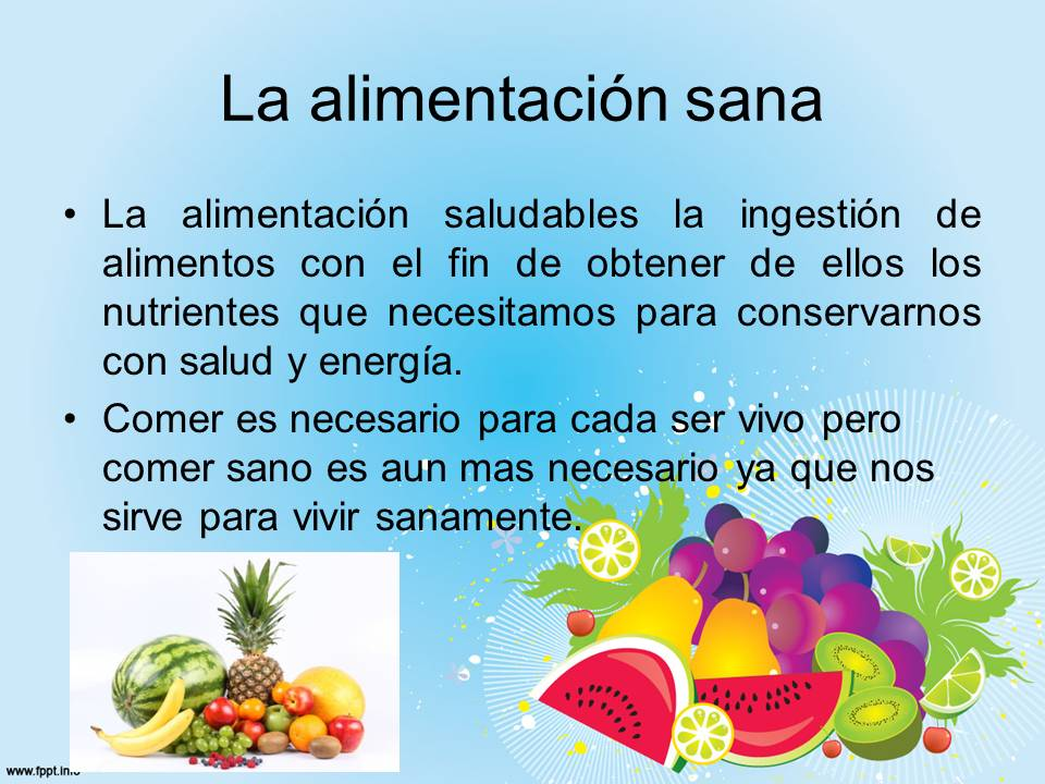 La importancia de una alimentaci n saludable definici n for Dieta definicion
