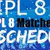 Pepsi IPL 2015 Complete Schedule