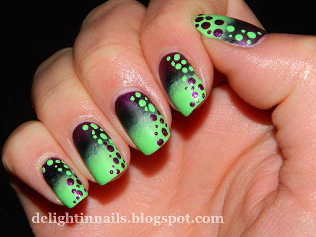 green nail design - pccala
