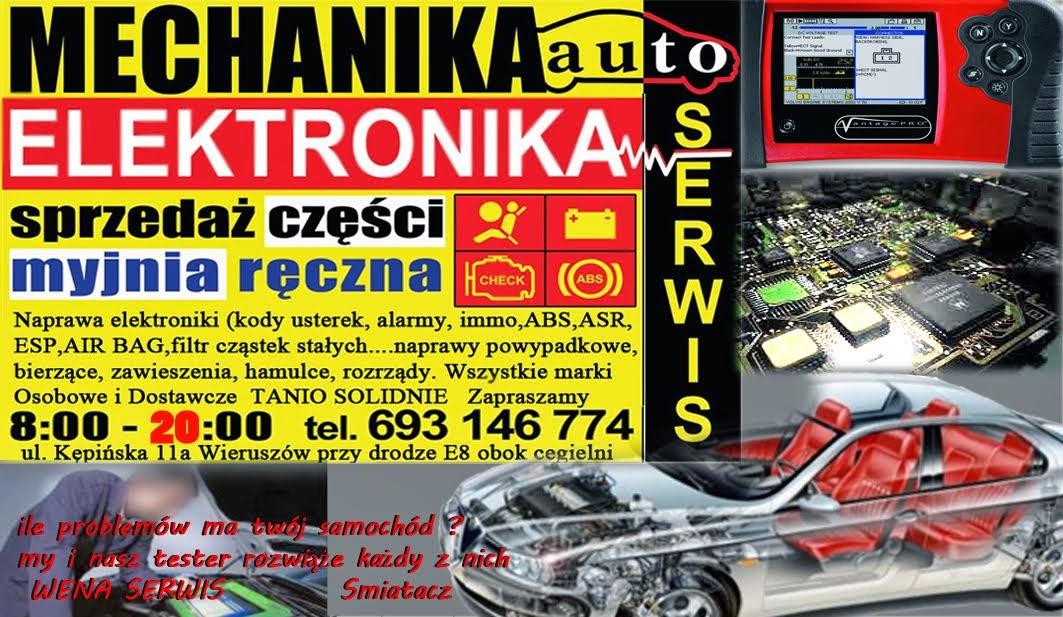 AUTO ELEKTRO SERWIS Wieruszów ELEKTROMECHANIKA WENA SERWIS, WARSZTAT, SMIATACZ, tel. 693146774
