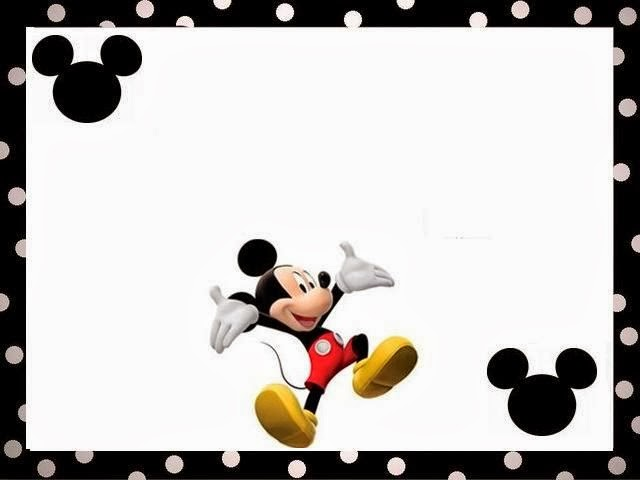 Mickey Mouse Free Printable Frames.   Oh My Fiesta! in english