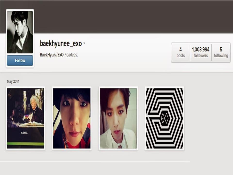 Baekhyun Instagram�da 1 Milyon Takip�iye Ula�t�! // 11.05.2014