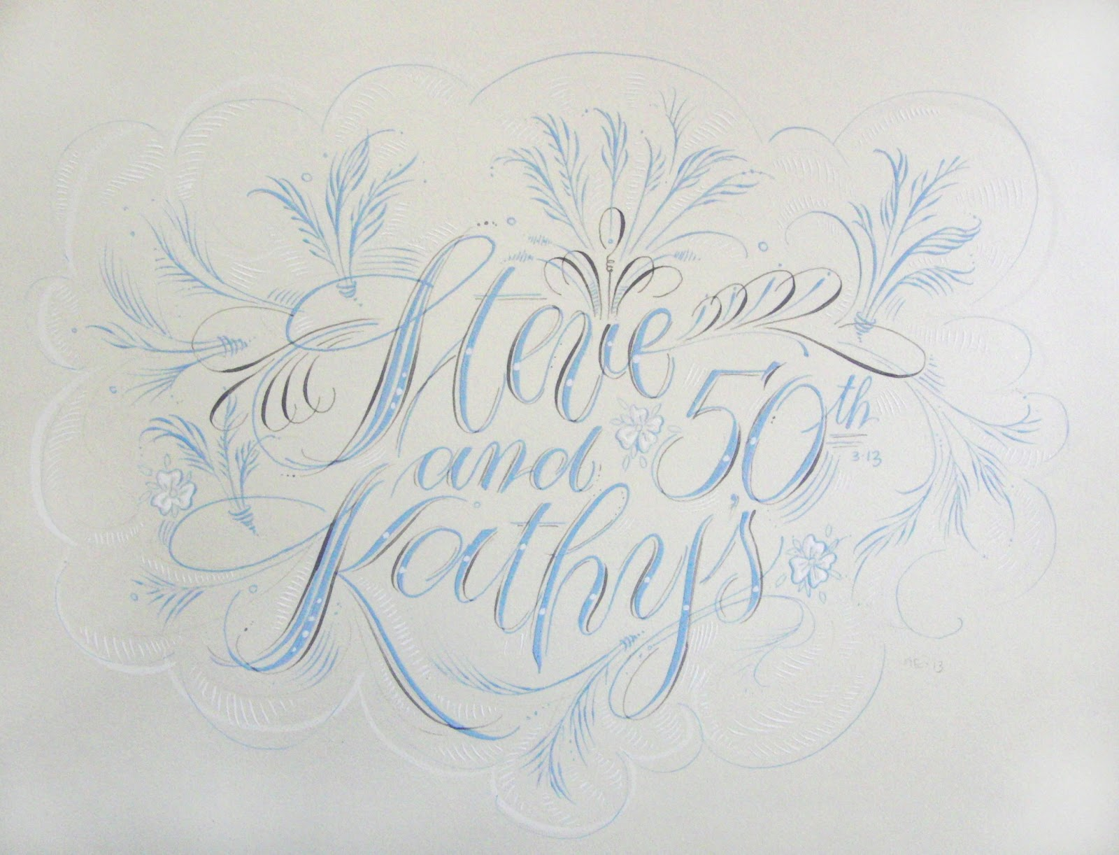 Anne elser 50th anniversary art Anne elser calligraphy