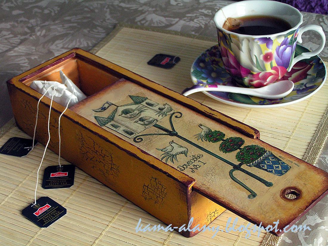 Коробка для чая в пакетиках своими руками 77