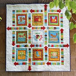 'Spin to Play' panel quilt PDF pattern
