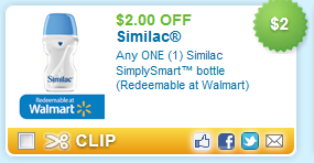 $2.00 off Any ONE (1) Similac SimplySmart bottle