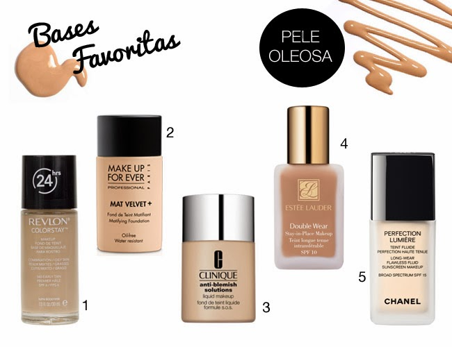 bases, favoritos, maquilhagem, favorite, foundation, review, daniela pires, pele oleosa, revlon, makeup for ever, estee lauder, perfection lumiere, clinique,
