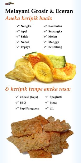 Peluang Usaha Keripik Buah dan Tempe --- Fruit Chips - Click on the Image