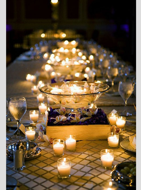 iluminación con velas boda