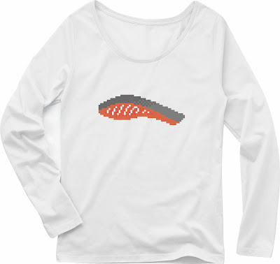 Pixel Party Boy「Tシャケ」[Girls Boat-neck LongTee] ボートネック・ロングスリーブTシャツ 4.3oz | T-SHIRT COUNCIL