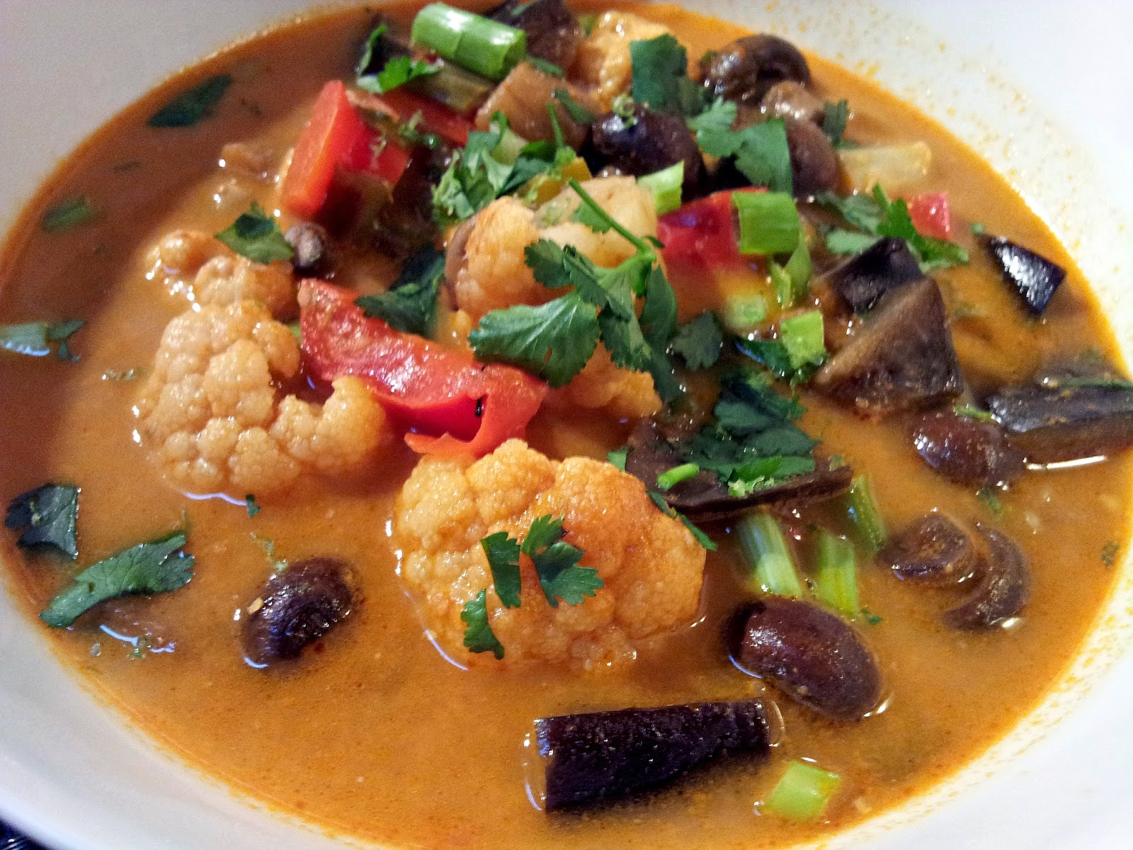 Thai Red Curry Peanut Vegetable Stew