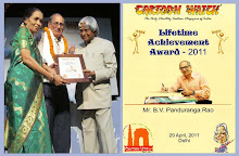 Felicitated by Life time Achievement Award at Cartoon Fetival, New Delhi