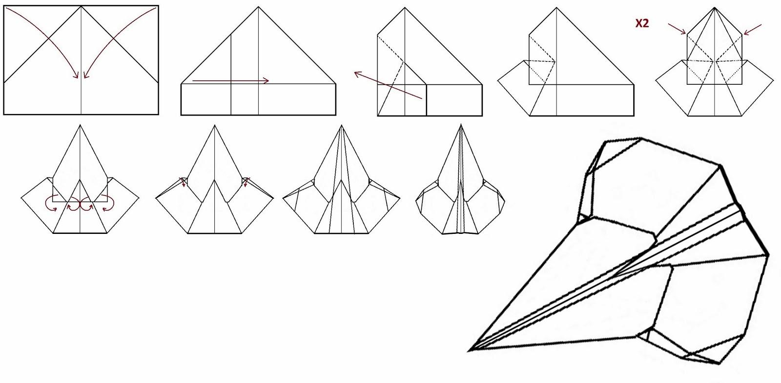 Как сделать бумажный самолетик который долго летает