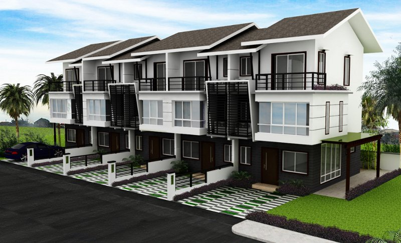 Modern town modern residential model homes designs for Residential house design