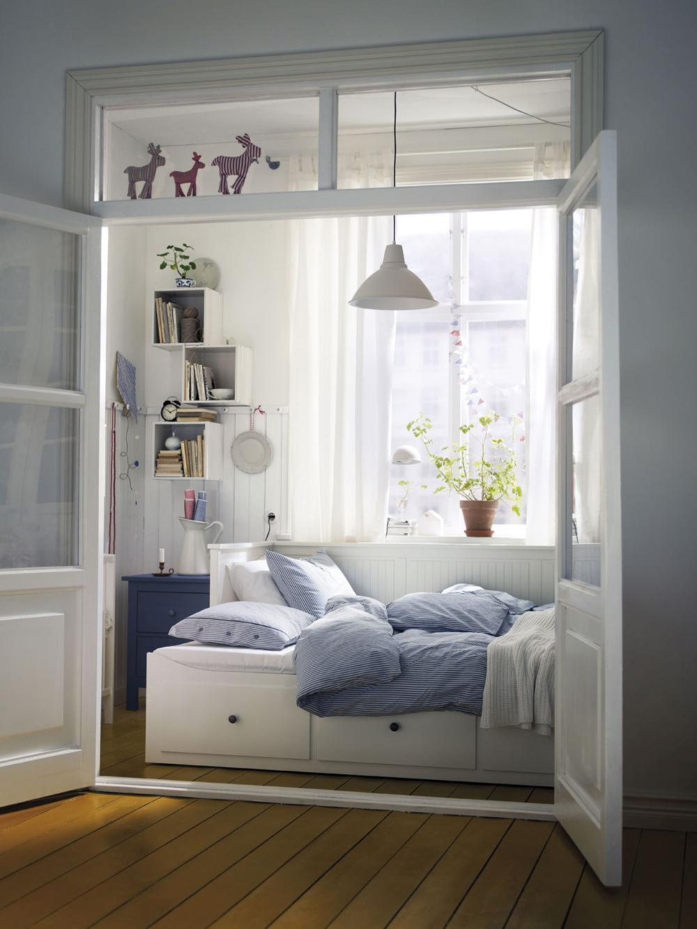 Ideas deco dormitorios de ikea tr s studio blog de - Papel pintado para armarios ...