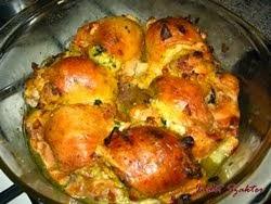 Töltött csirkecombok Judit módra