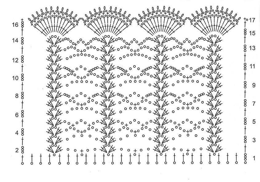 Вязание крючком схемы школьная форма 41