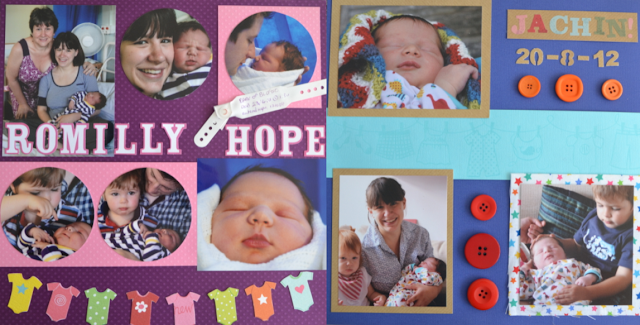 Newborn Scrapbook Pages