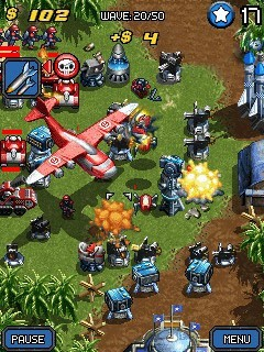game layar sentuh juego mega tower assault nokia 5233
