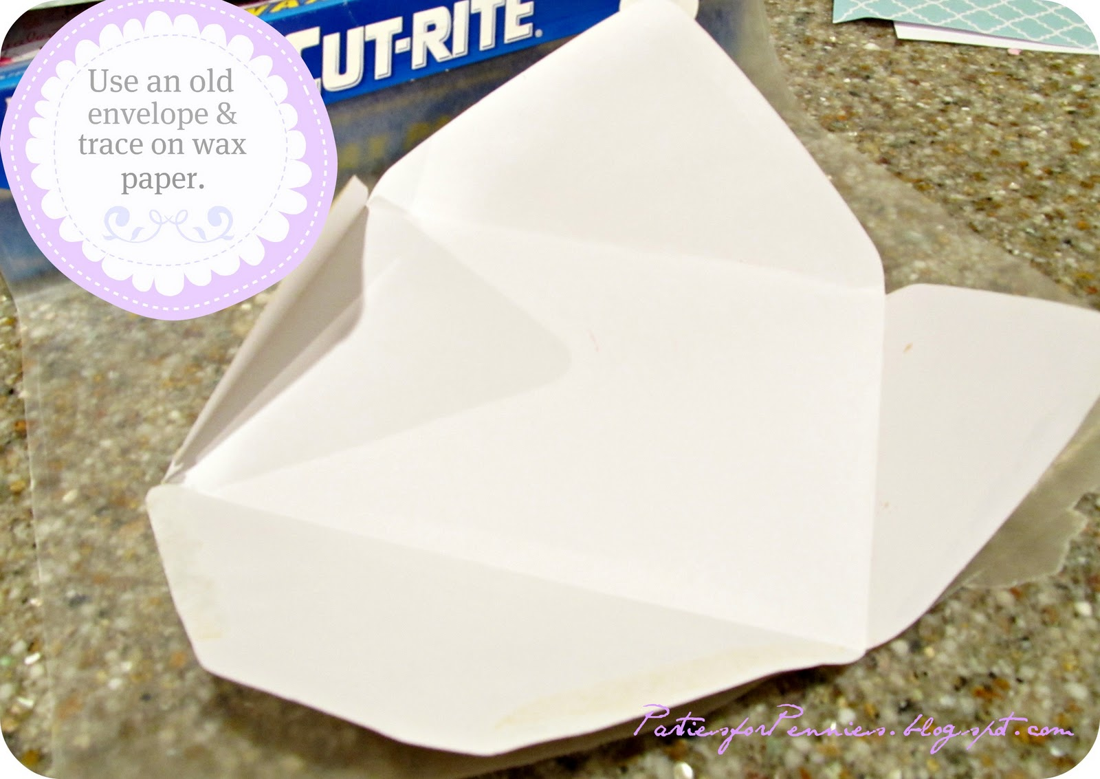 wax paper envelopes In need of an easy-to-make envelope for a gift  this origami envelope is made  with a square piece of paper and it takes only six folds to.