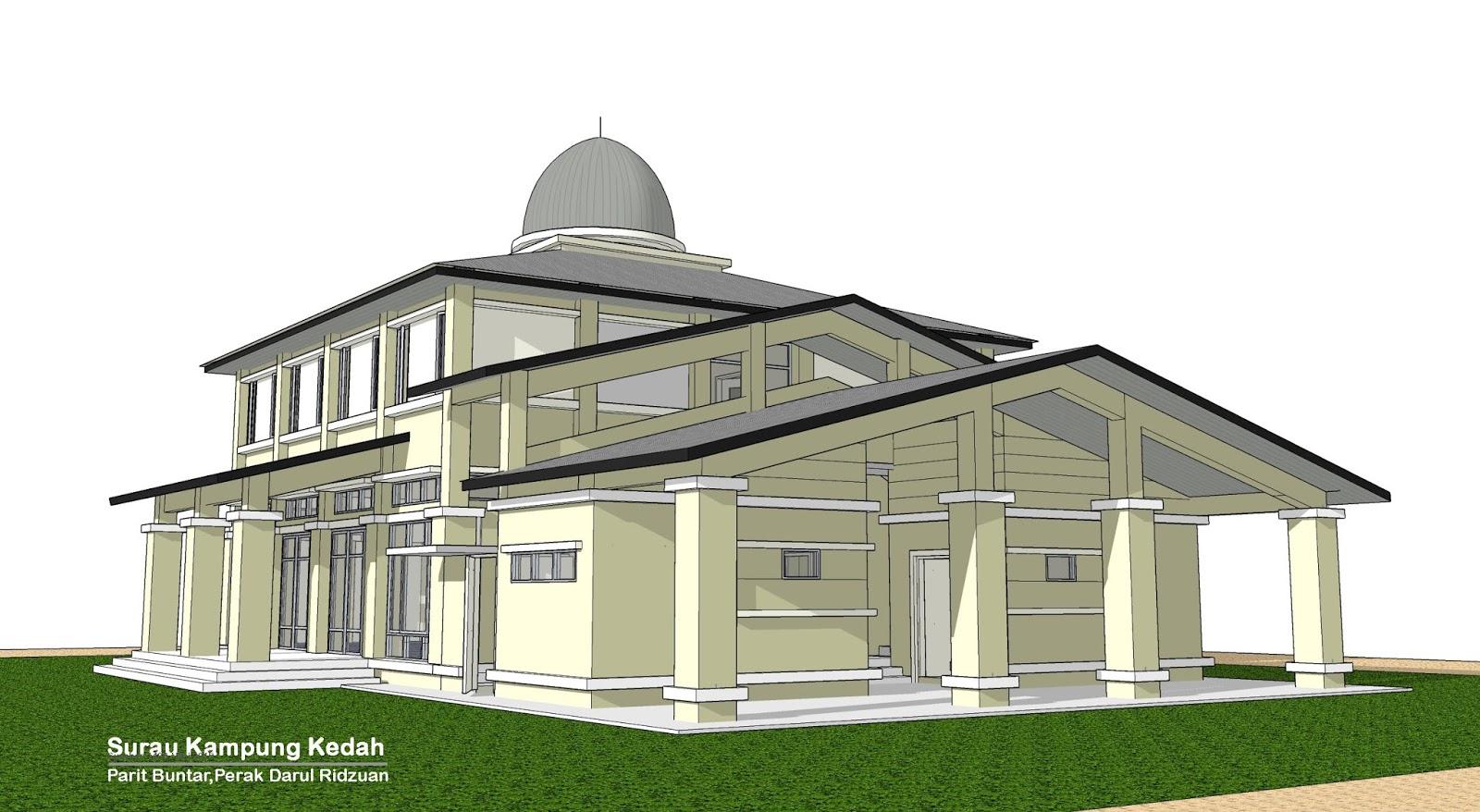 Cadangan pelan surau al najah simpang 4 kg kedah parit for Plans d arkitek