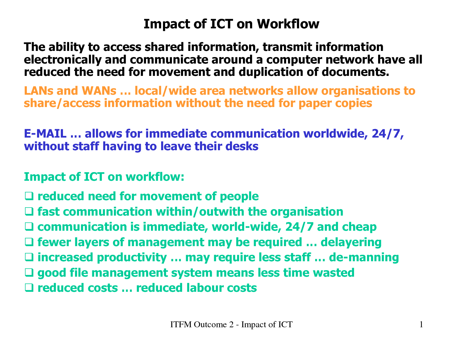 impact of ict Anja balanskat roger blamire stella kefala the ict impact report a review of studies of ict impact on schools in europe 11 december 2006 this report was written by european schoolnet in the.