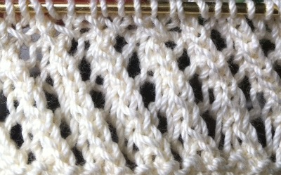 How to Knit the Eyelet Stitch - NewStitchaDay.com