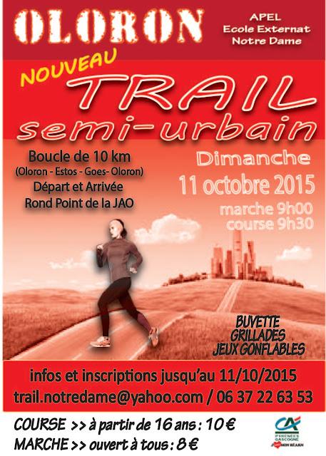 Trail semi urbain Notre Dame oloron 2015