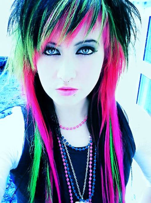 emo hairstyles for girls with medium length hair. Emo Hairstyles For Girls 2010.