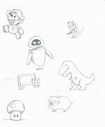 Volví a hacer dibujos faciles que me encontré en wallpapers. dibujo