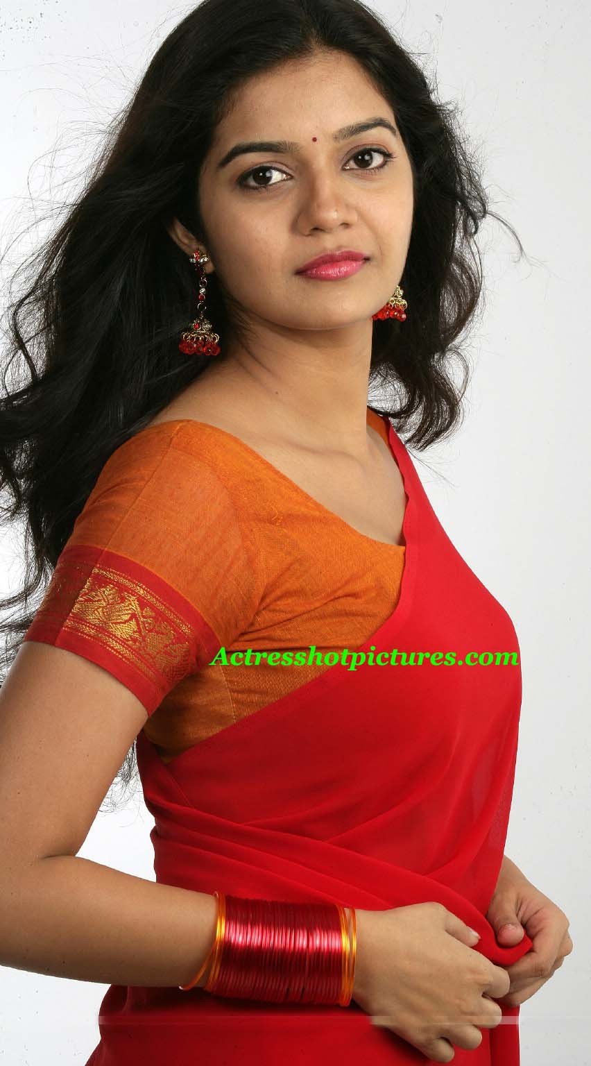 colors swathi in red saree wallpapers - Colors Swathi in Red Saree Wallpapers HD Wallpapers
