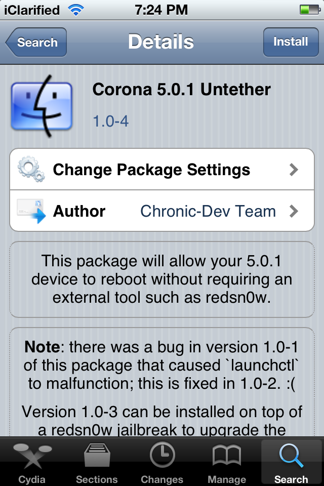 Corona 1.0.4 Untethered Jailbreak