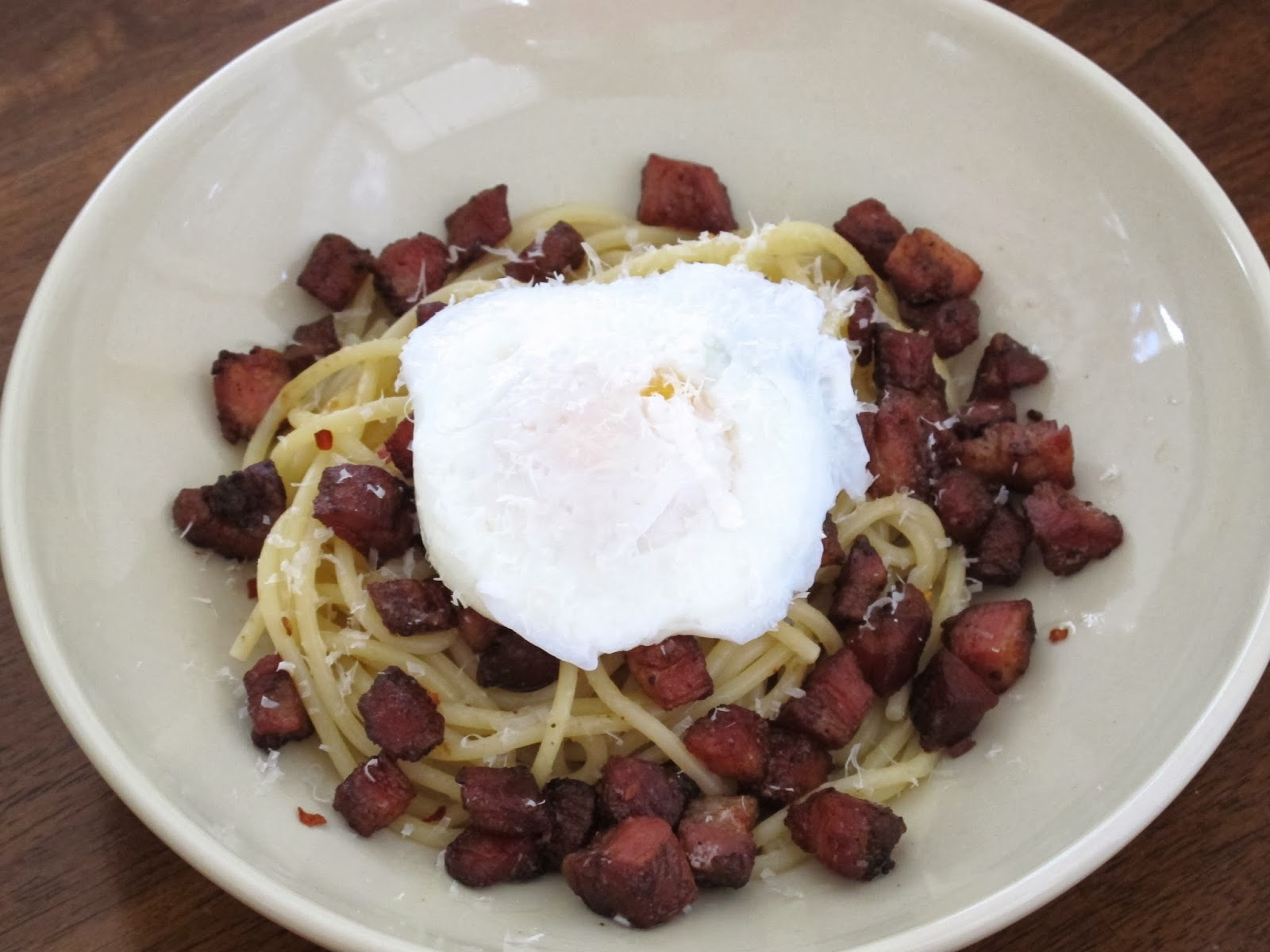 Deconstructed Spaghetti Carbonara