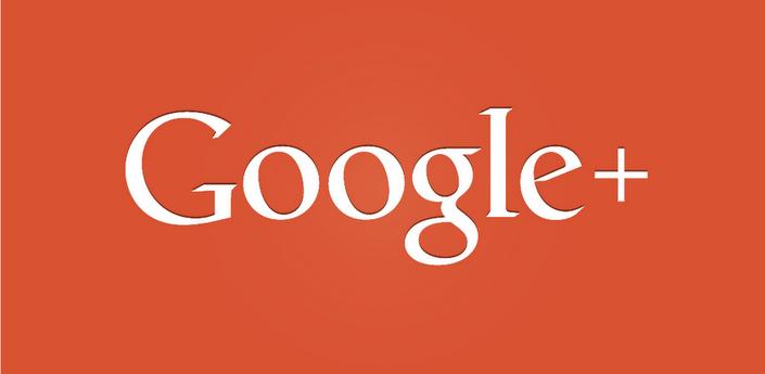 Google Plus gigantic logo