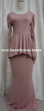 NBH0126 HUSNA PEPLUM DRESS