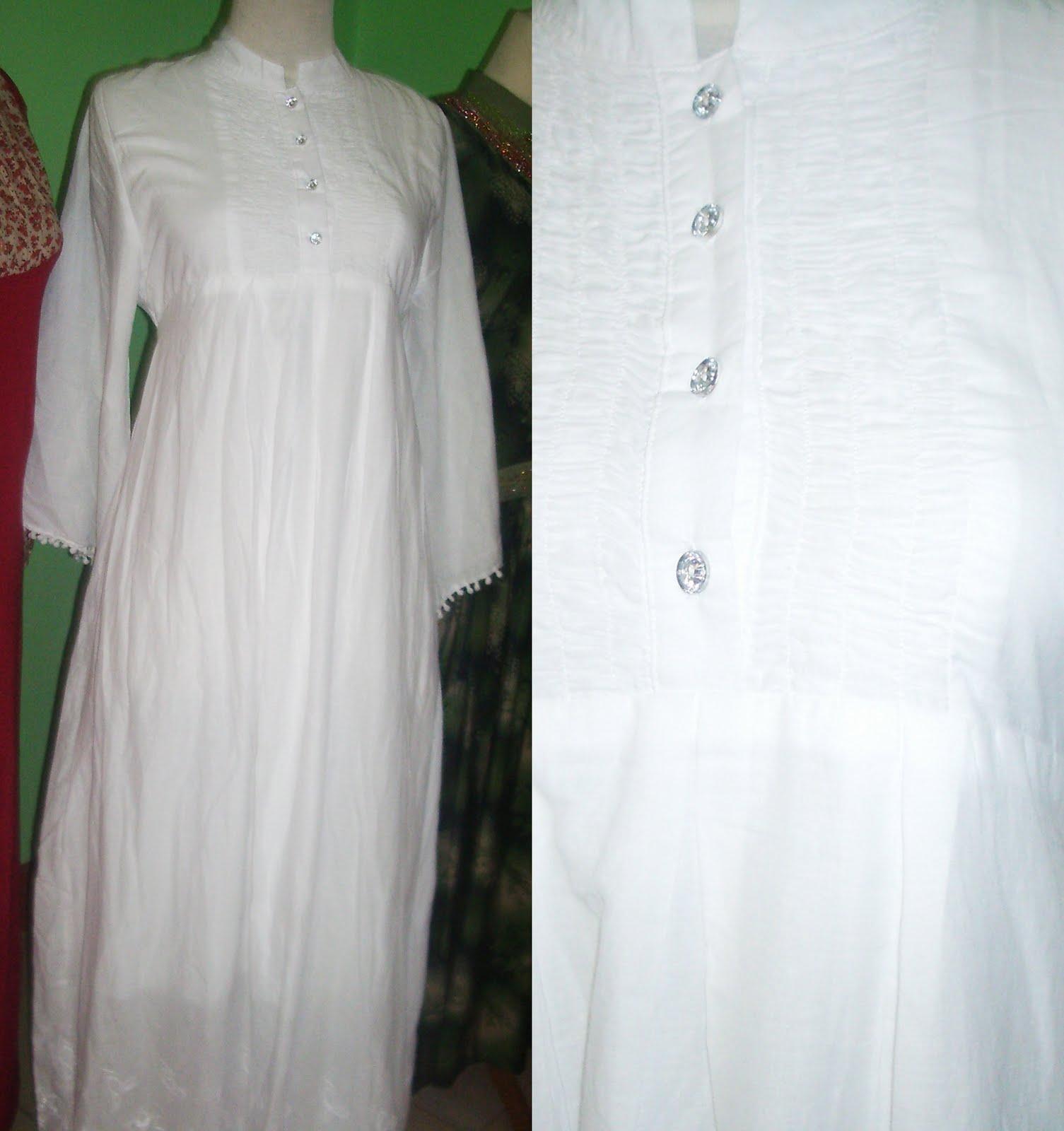 Azeela Shop D 39 Safira Gamis Putih
