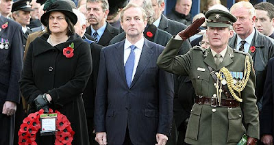 Irish leader Enda Kenny made the decision not to wear a Remembrance Day poppy